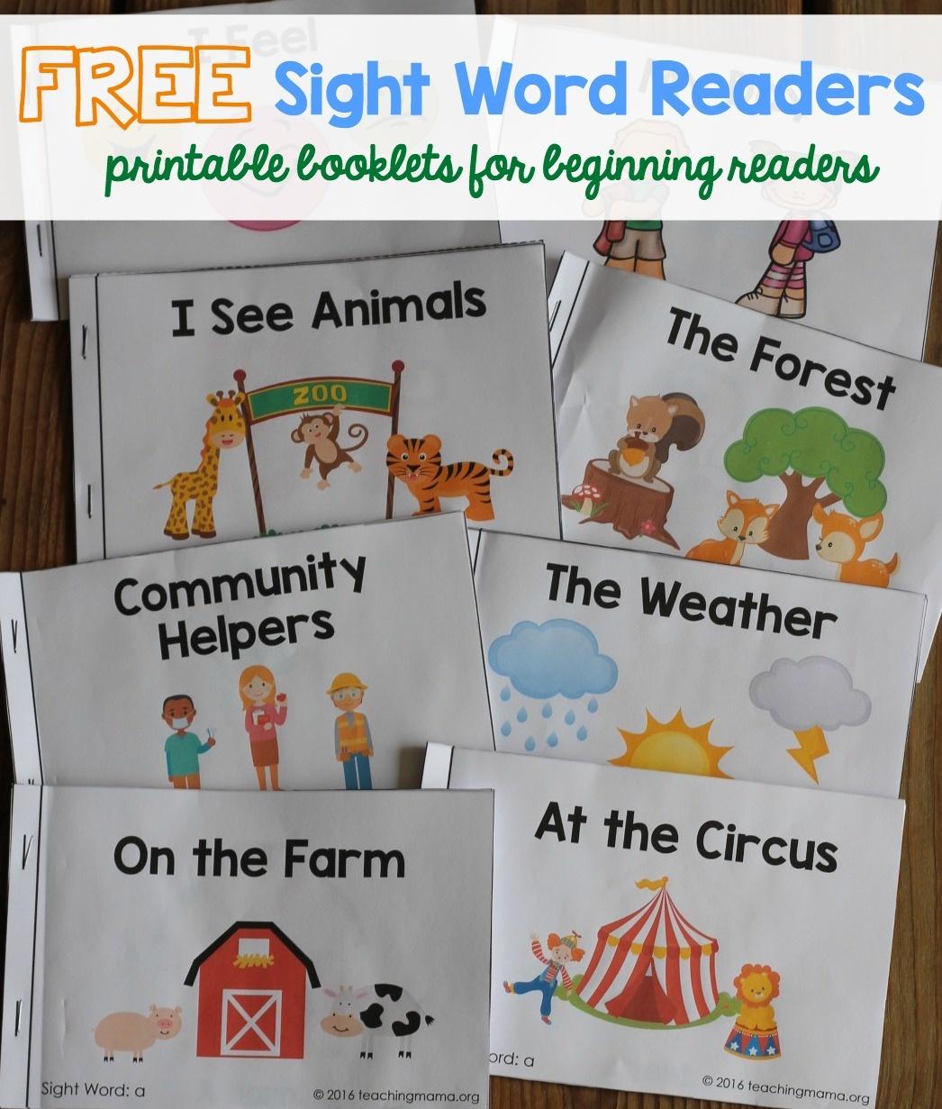 Sight Word Readers - Free Printable Word Family Mini Books