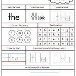 Sight Word The Printable Worksheet | Myteachingstation   Free Printable Sight Word Worksheets