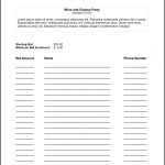 Silent Auction Bid Sheet Template   Google Search | Auction Ideas   Free Printable Silent Auction Bid Sheets