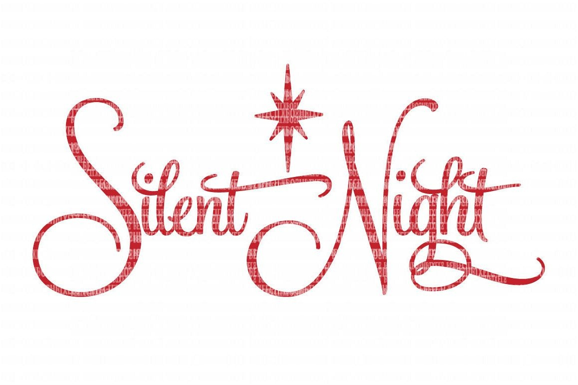Silent Night Christmas Svg File, Svg Files For Cameo And Cricut Design  Space, Iron On Decal, Printable Transfer, Dxf Commercial Use, - Free Printable Christmas Iron On Transfers
