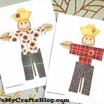 Simple Paper Scarecrow   Free Printable Template   Glued To My Crafts   Free Scarecrow Template Printable