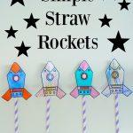 Simple Straw Rockets + Free Printable | Pre K! ✏ | Rocket Craft   Free Printable Crafts For Preschoolers