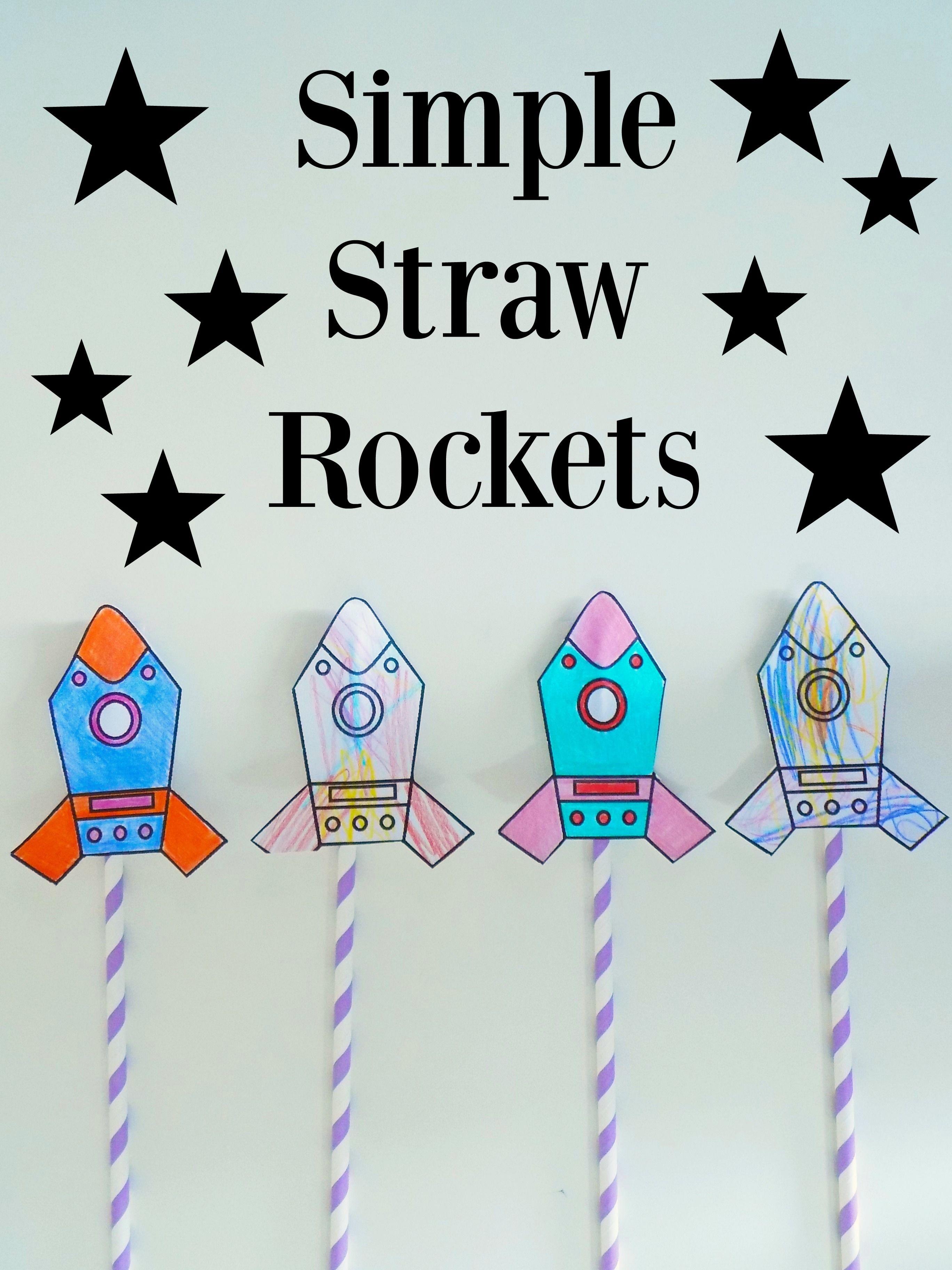 Simple Straw Rockets + Free Printable | Pre K! ✏ | Rocket Craft - Free Printable Crafts For Preschoolers