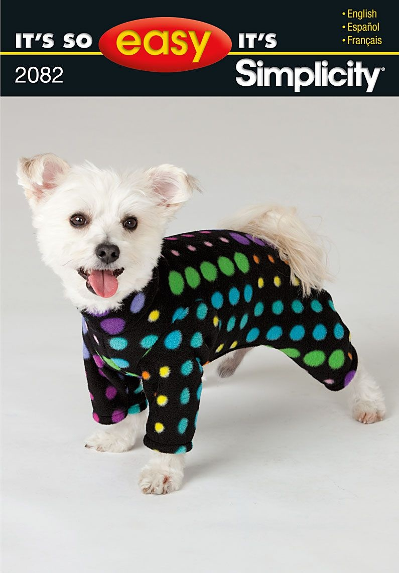 Simplicity 2082 From Simplicity Patterns Is A Dog Coat Sewing - Free Printable Dog Pajama Pattern