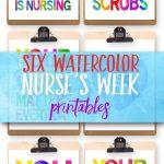 Six Nurses Week Printables | I Should Be Mopping The Floor   Nurses Day Cards Free Printable