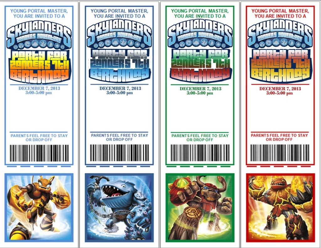 Skylanders Birthday Party: 13 Steps (With Pictures) - Free Printable Skylander Invitations