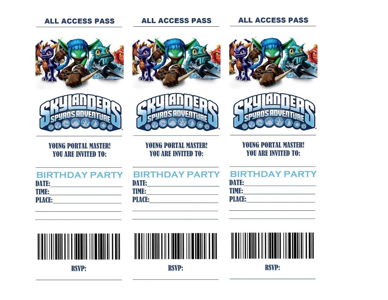 Skylanders Birthday Party Invitations   Life In A Larger Story - Free Printable Skylander Invitations