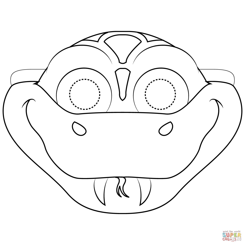 Snake Mask Coloring Page   Free Printable Coloring Pages - Free Printable Lizard Mask