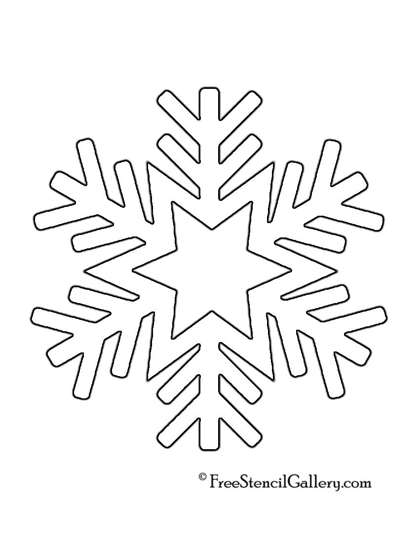 Snowflake Stencil 08 | Crafts | Snowflake Stencil, Snowflake - Free Printable Snowflakes
