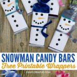 Snowman Free Printable Candy Bar Wrapper Template | Crafts   Free Printable Christmas Candy Bar Wrappers