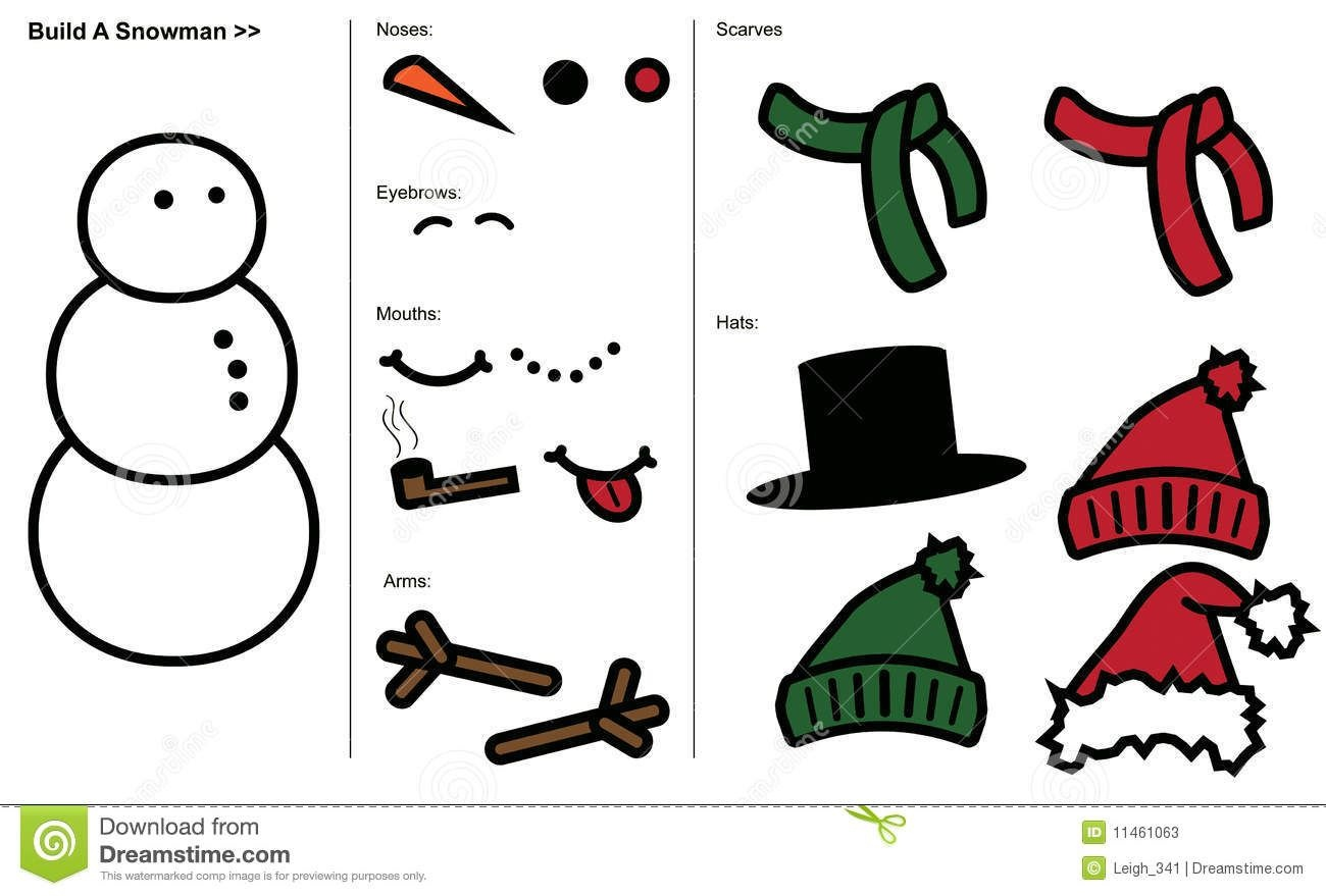 Snowman+Hat+And+Scarf+Template | Elf On The Shelf | Snowman, Snowman - Free Printable Snowman Hat Templates