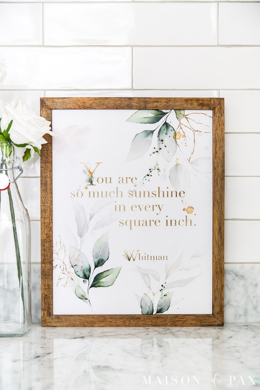So Much Sunshine Printable Wall Art - Maison De Pax - Free Printable Wall Art Quotes