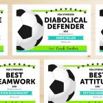 Soccer Award Categories | Ideas For The House | Soccer Training   Free Printable Soccer Certificate Templates