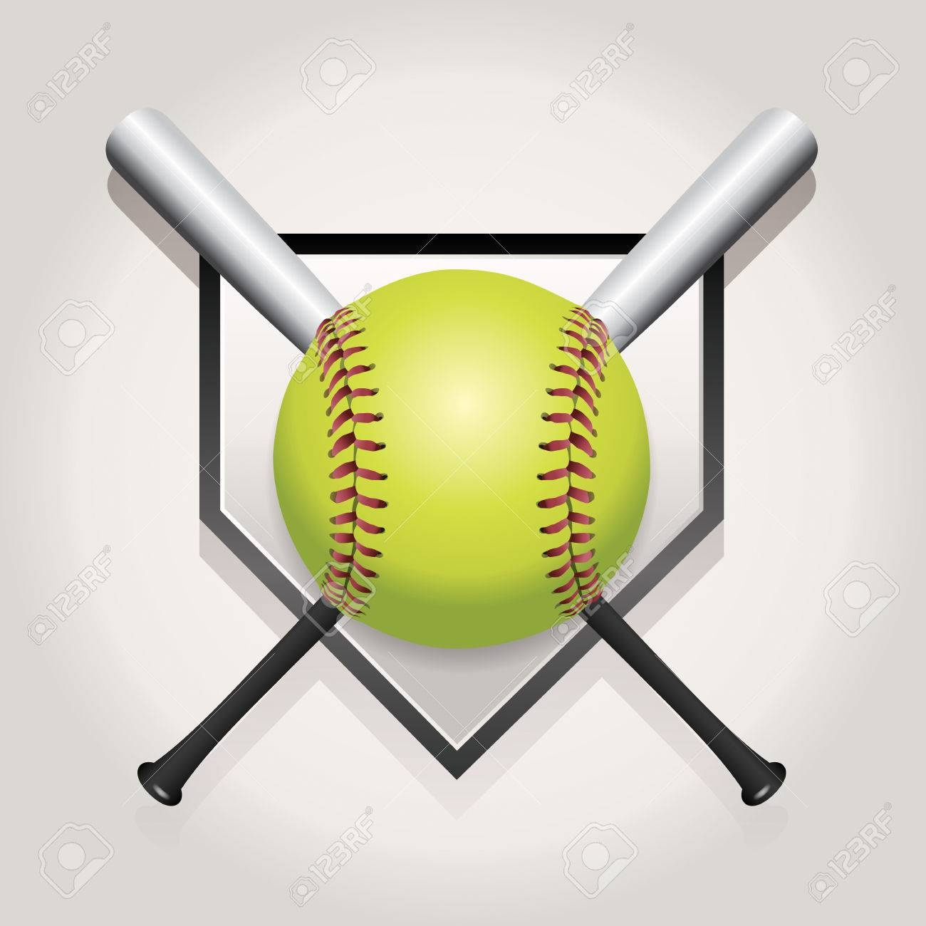 Softball Stock Photos And Images - 123Rf - Free Printable Softball Images