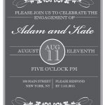 Sophisticated Engagement Party Free Printable Invitation   Free Printable Engagement Party Invitations