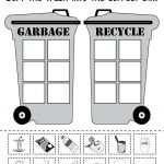 Sorting Trash   Earth Day Recycling Worksheets (4 Free Printable   Free Printable Recycling Worksheets