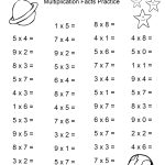 Space Theme   4Th Grade Math Practice Sheets   Multiplication Facts   Free Printable Math Worksheets For 3Rd Grade