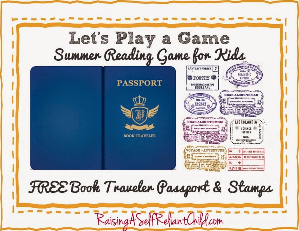 Special Connection Homeschool: Free Friday: Summer Reading Passport - Free Printable Passport Template