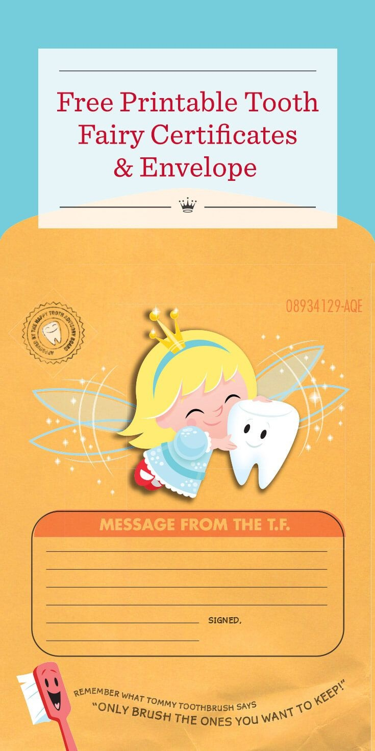 Special Delivery From The Tooth Fairy: Printable Tooth Fairy - Free Printable Tooth Fairy Letter And Envelope