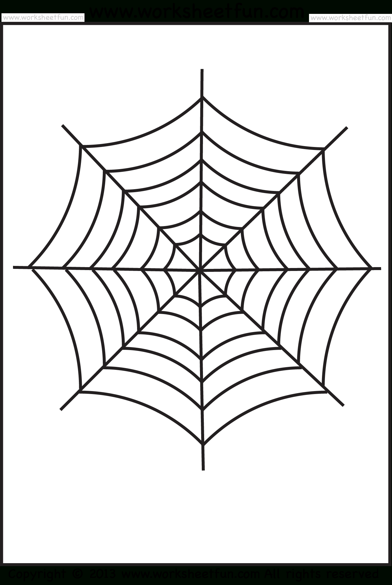 Spider Web Tracing – One Halloween Worksheets / Free Printable - Free Printable Spider Web