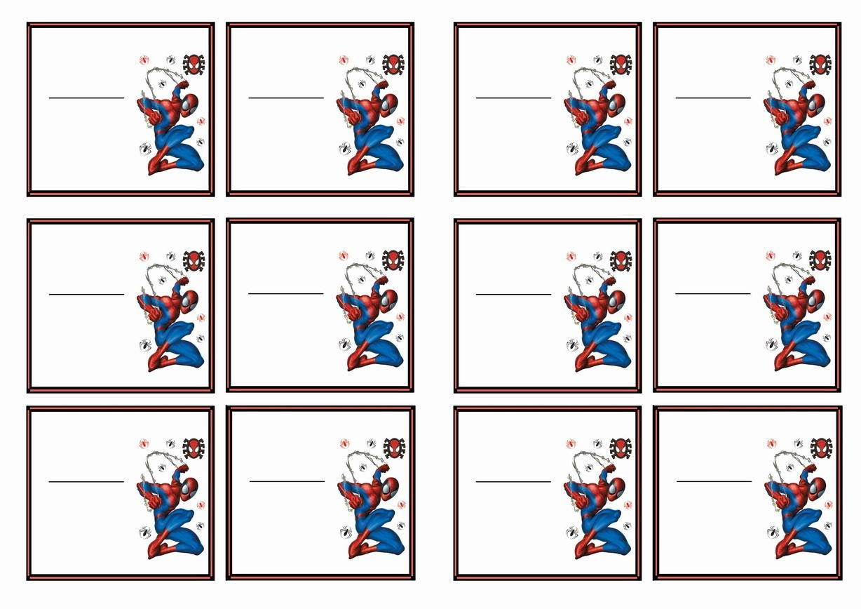 Spiderman Name Tags – Birthday Printable | Spiderman | Birthday Tags - Superhero Name Tags Free Printable
