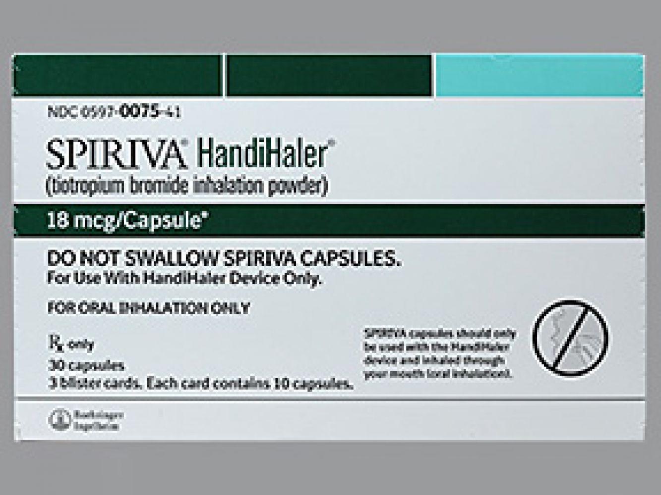 Spiriva 18 Mcg Cp-Handihaler - S - All - Cheap Prescription Prices - Free Printable Spiriva Coupons