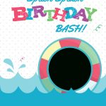 Splish Splash   Free Printable Summer Party Invitation Template   Free Printable Water Park Birthday Invitations
