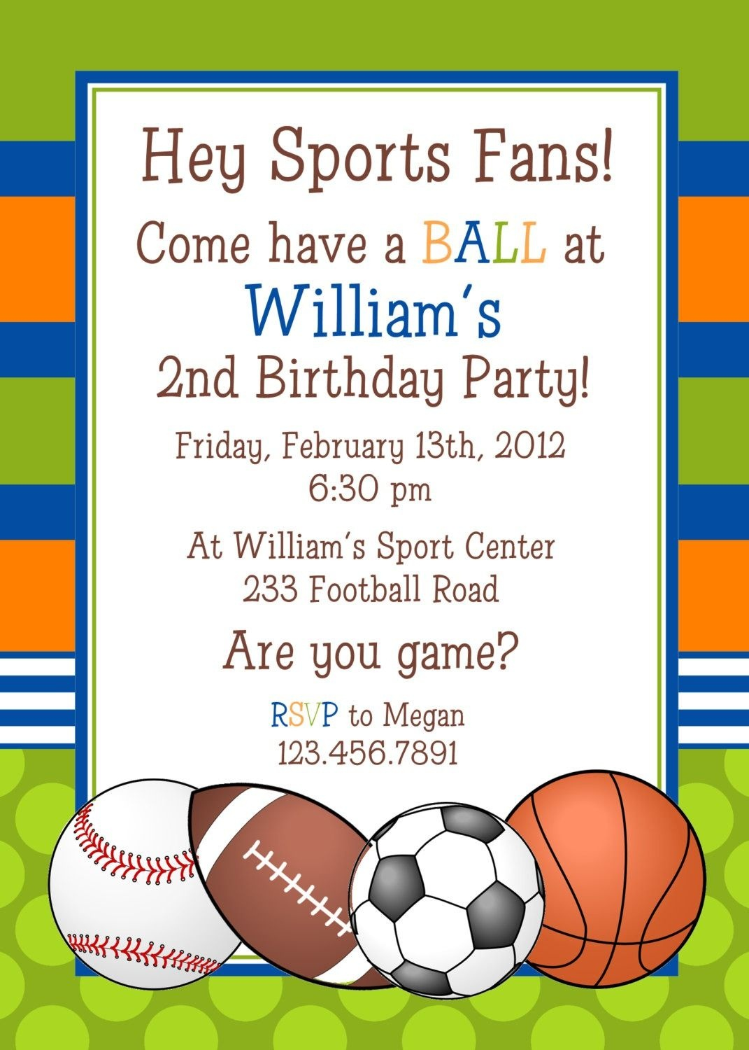 Sports Invitations Templates Free #party | Party Invitation, Cakes - Free Printable Sports Birthday Invitation Templates