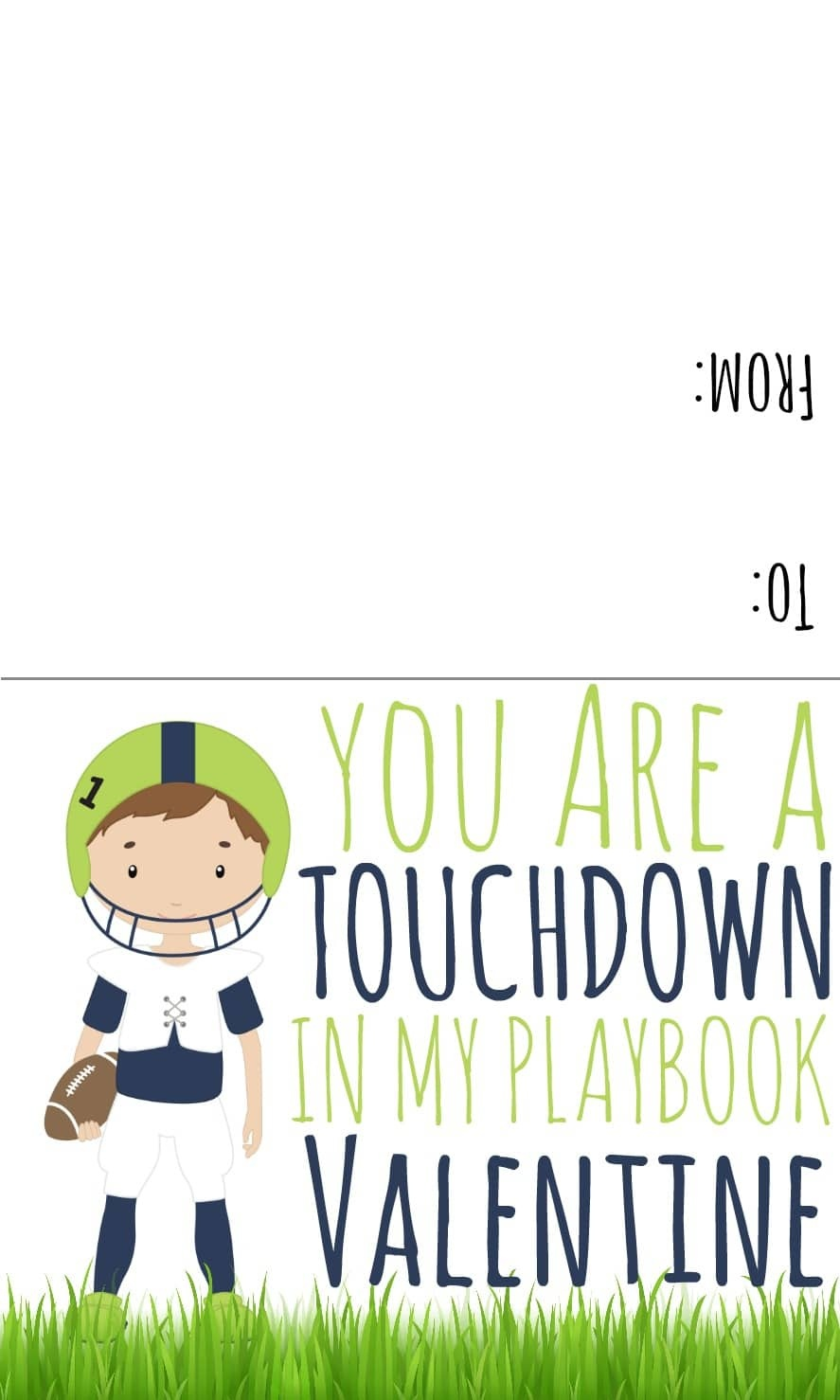Sports Valentines Printables - Candy Free Valentine Ideas - Free Printable Football Valentines Day Cards