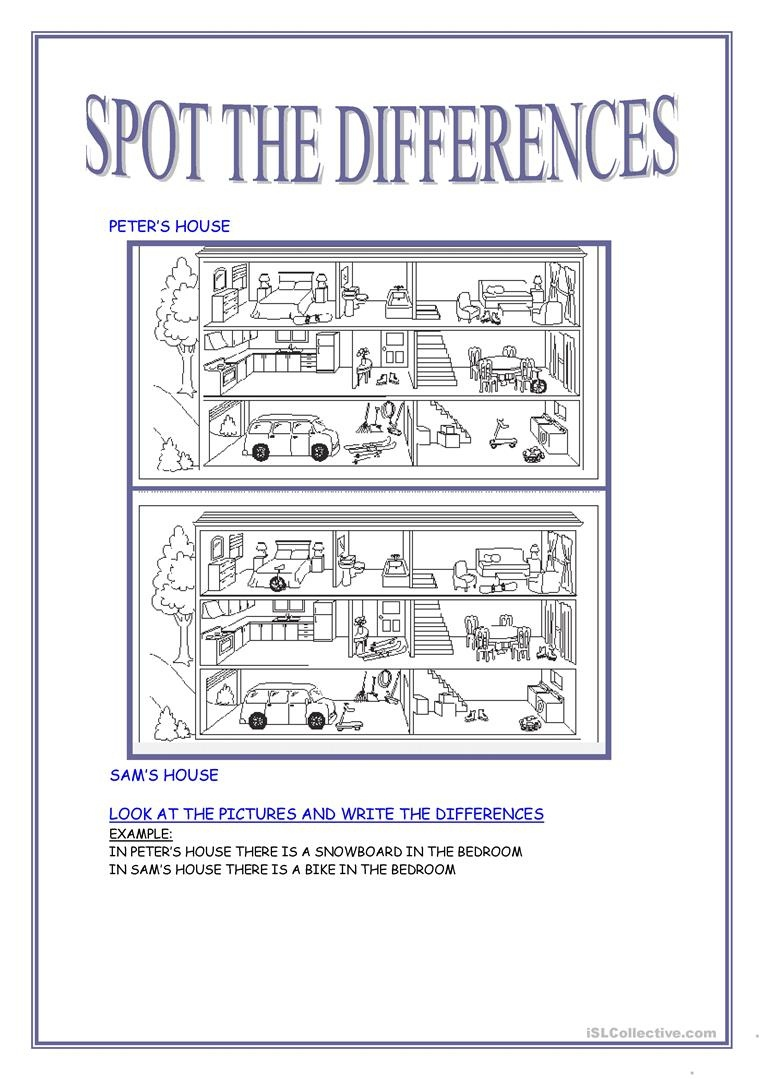 Spot The Differences Worksheet - Free Esl Printable Worksheets Made - Free Printable Spot The Difference Games For Adults