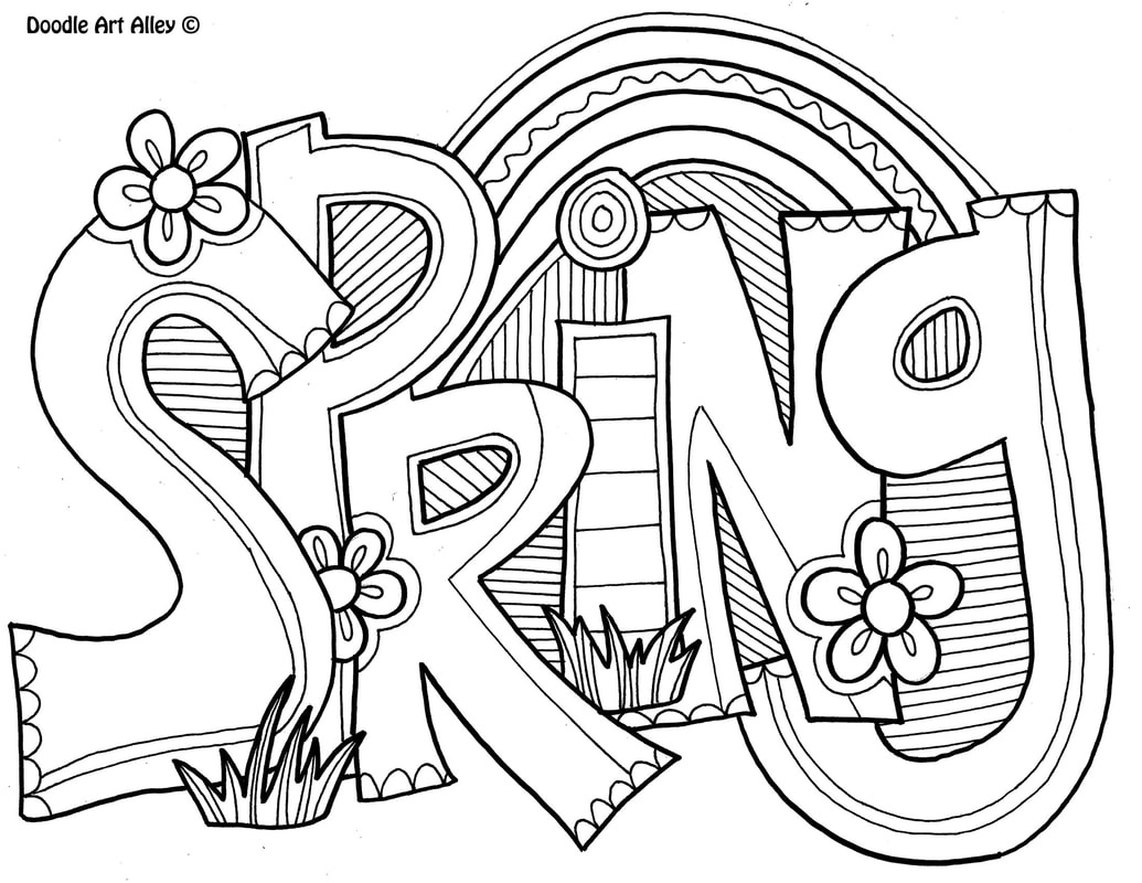 Spring Coloring Pages - Doodle Art Alley - Spring Coloring Sheets Free Printable