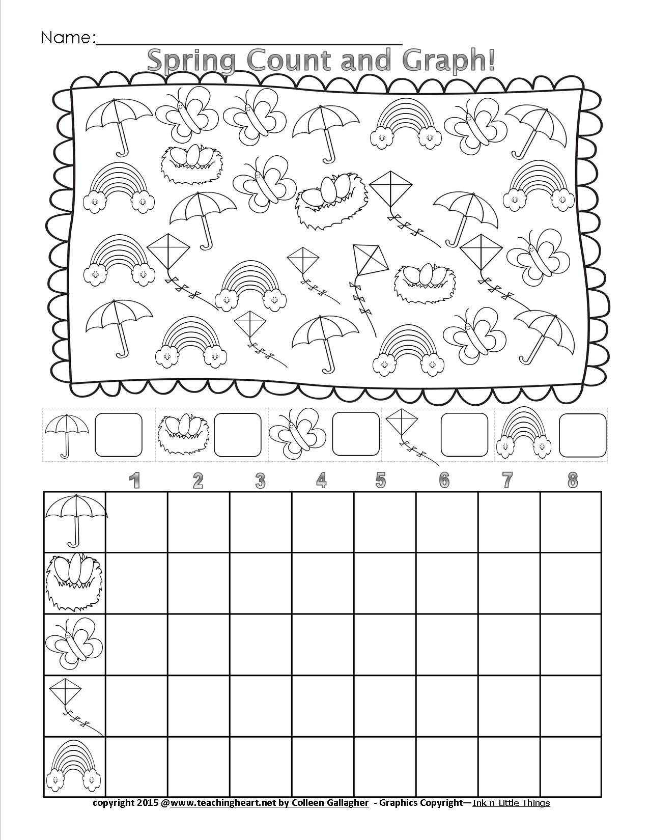 Spring Count And Graph - Free - Teaching Heart Blog Teaching Heart Blog - Free Printable Graphs For Kindergarten