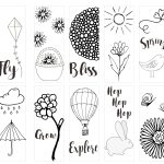 Spring Printable Coloring Page Bookmarks   Kleinworth & Co   Free Printable Spring Bookmarks