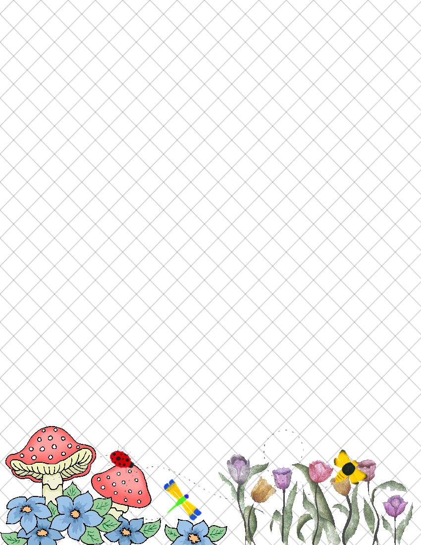 Spring Stationery Themed Downloads Pg. 1 - Free Printable Spring Stationery