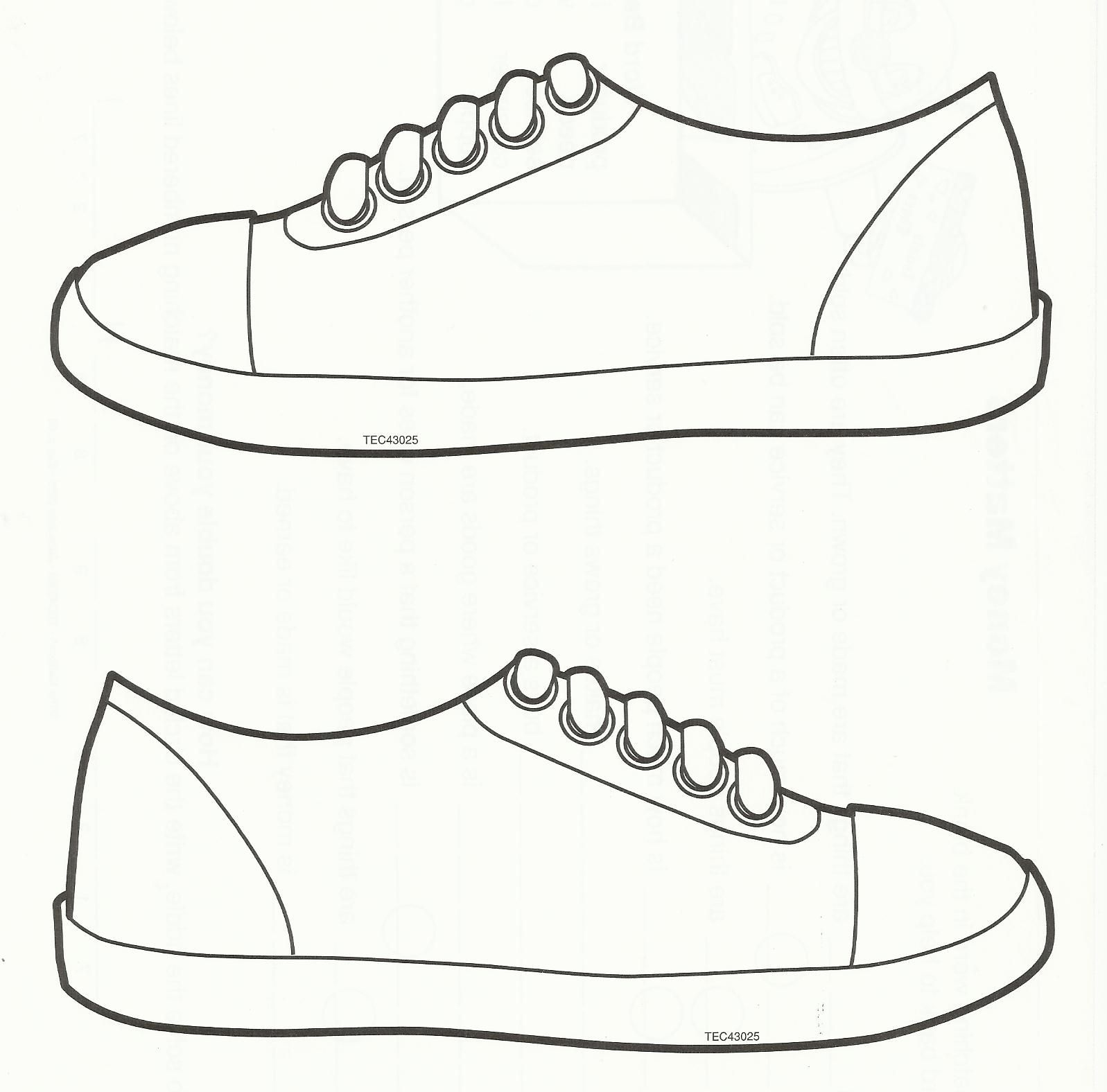 Squish Preschool Ideas: Sneaker Art   2Nd Grade! End Of Year - Free Printable Shoe Print Template