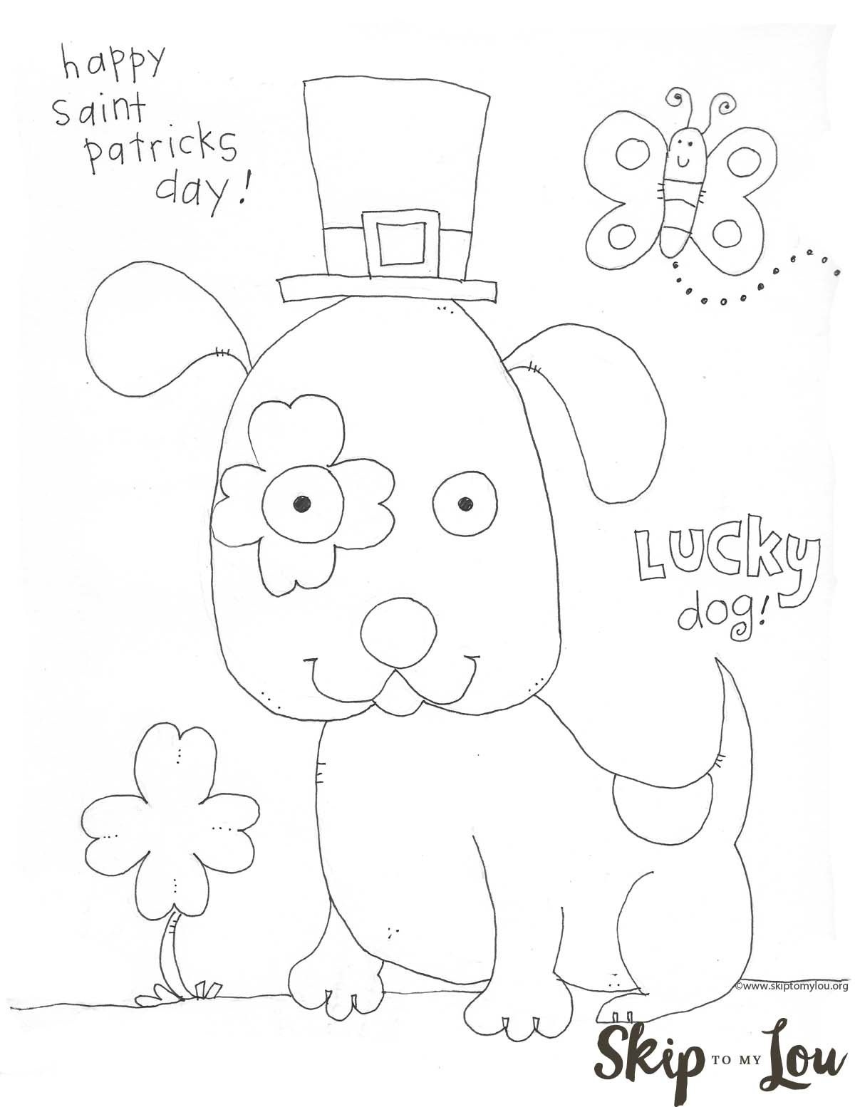 St Patricks Day Coloring Page For Preschoolers | St. Patrick's Day - Free Printable Saint Patrick Coloring Pages