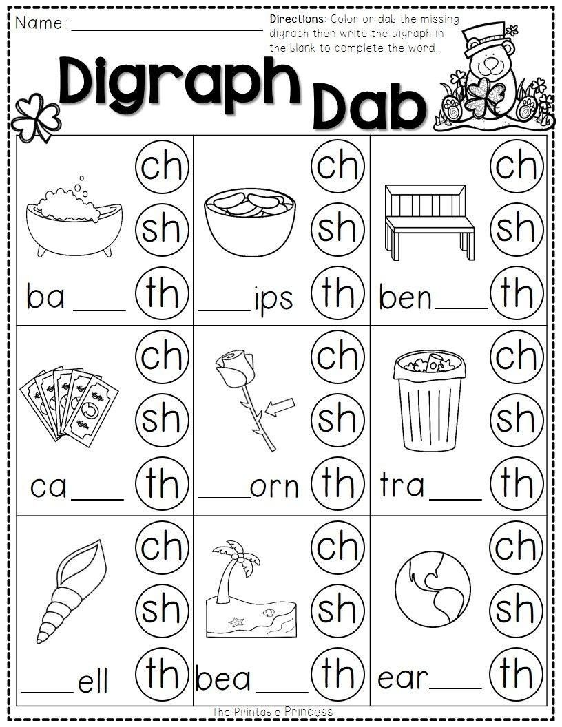 St. Patrick's Day Math And Literacy No Prep Freebie   Reading - Sh Worksheets Free Printable