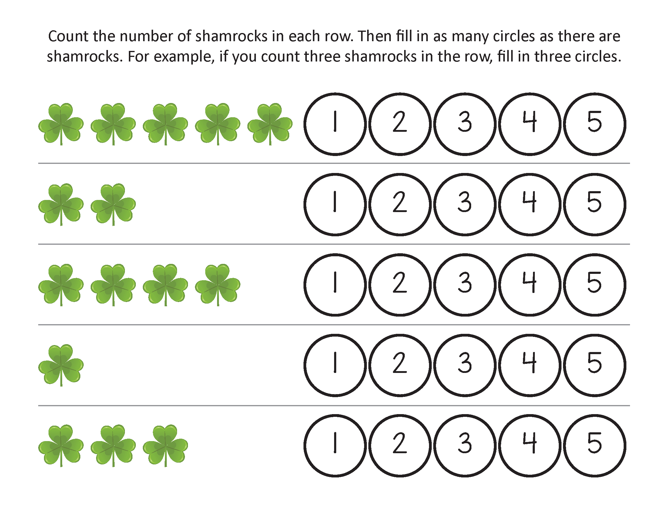 St Patricks Day Worksheets - Best Coloring Pages For Kids - Free Printable St Patrick Day Worksheets
