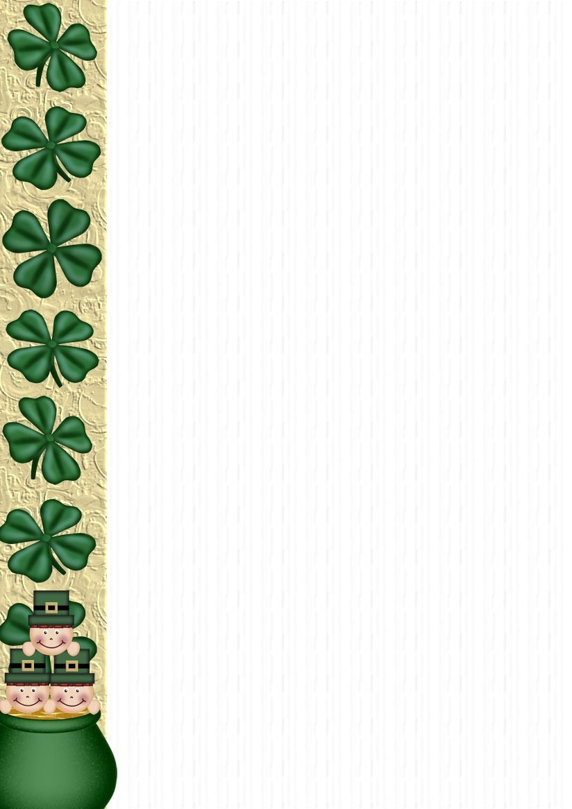 St Patrick's Stationery | Free Downloadable St. Patrick's - Free Printable St Patricks Day Stationery