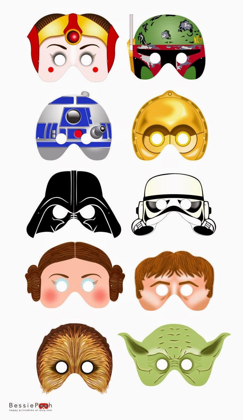 Star Wars Free Printable Masks. - Oh My Fiesta! In English - Free Printable Masks