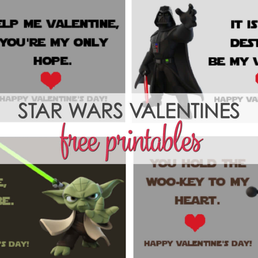 Star Wars Valentines Printables - 4 Free Designs | It Is A Keeper - Star Wars Printable Cards Free