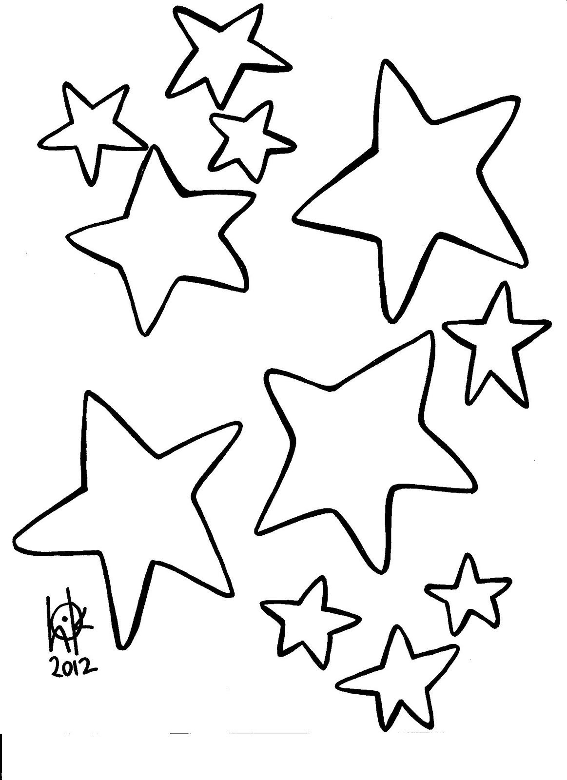 Stars Coloring Page. Stars Coloring Pages. Free Printable Star - Free Printable Stars