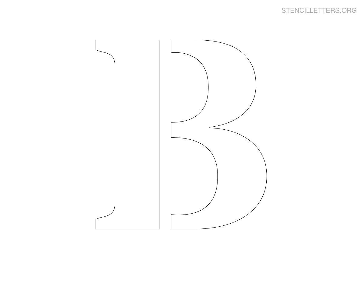 Stencil Letter Large B   Diy   Large Printable Letters, Letter - Free Printable Alphabet Stencils To Cut Out