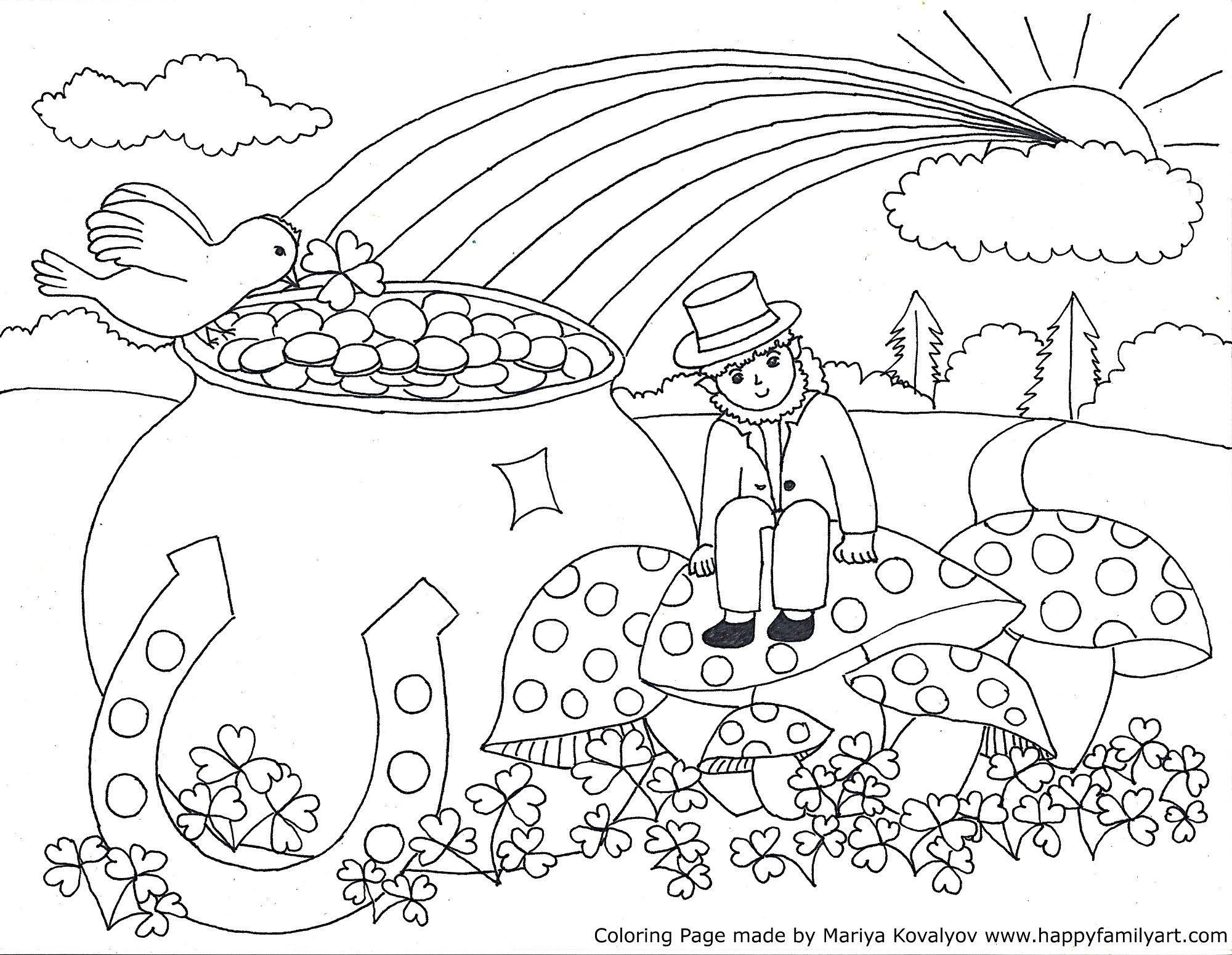 Stpatriksmedium -   Coloring Pages   Color, St Patrick, Coloring Pages - Free Printable St Patrick Day Coloring Pages