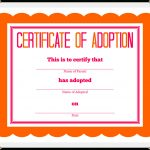 Stuffed Animal Adoption Certificate   Free Printable Adoption Certificate