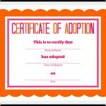 Stuffed Animal Adoption Certificate   Free Printable Adoption Certificate