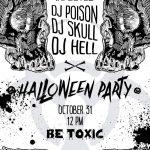 Stylish Black White Halloween Invitation Poster Card Skulls   Halloween Invitations Free Printable Black And White