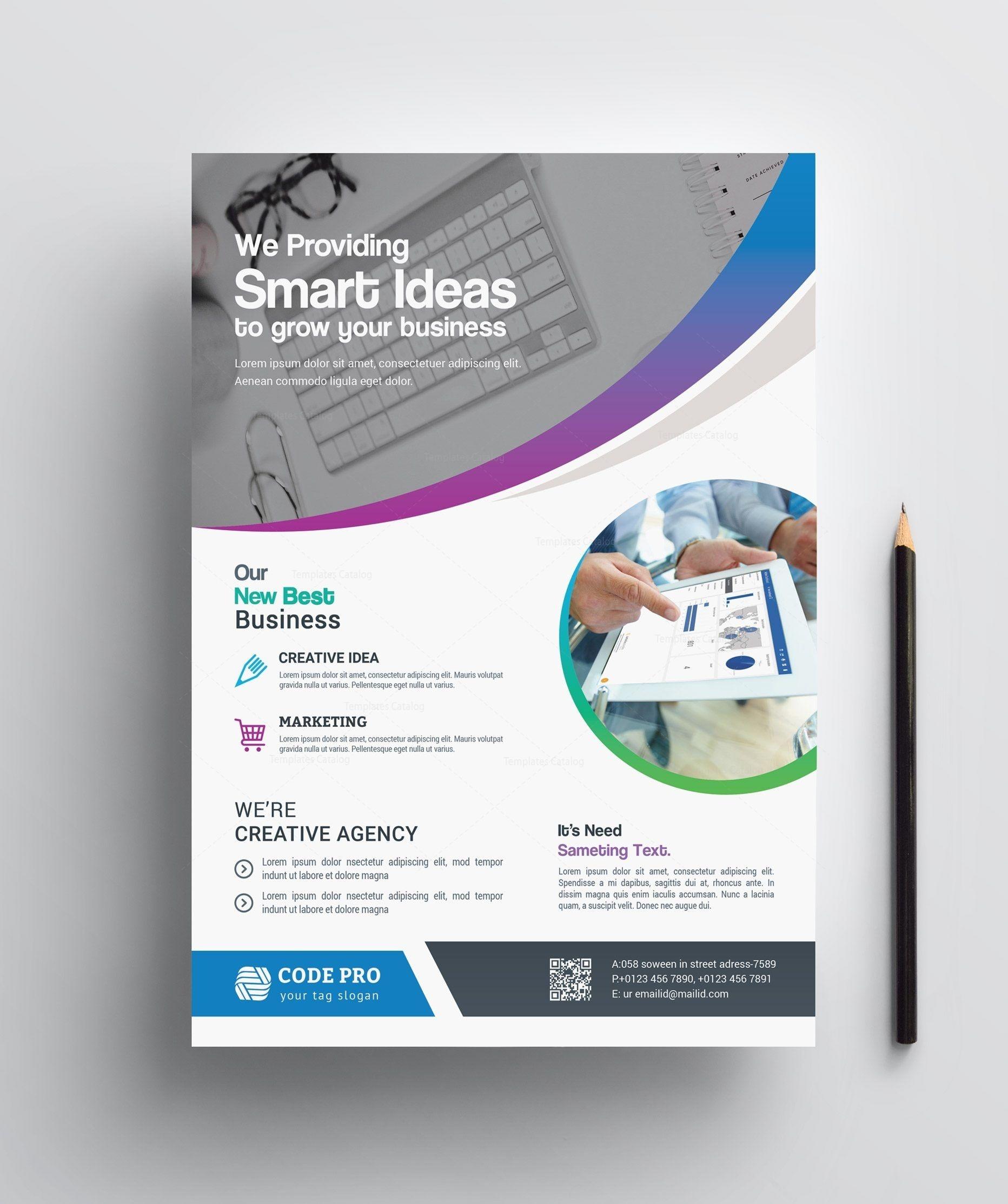 Stylish Printable Business Flyer 002412 | Flyers | Corporate - Business Flyer Templates Free Printable