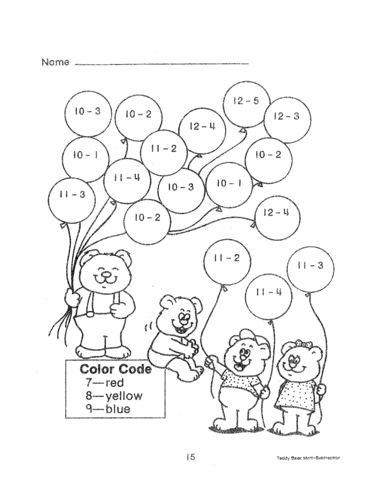 Subtraction Worksheets | Educational Coloring Pages | 2Nd Grade - Free Printable Math Coloring Worksheets For 2Nd Grade