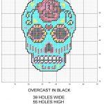 Sugar Skull Plastic Canvas Pattern | Various Plastic Canvas Patterns   Printable Plastic Canvas Patterns Free Online